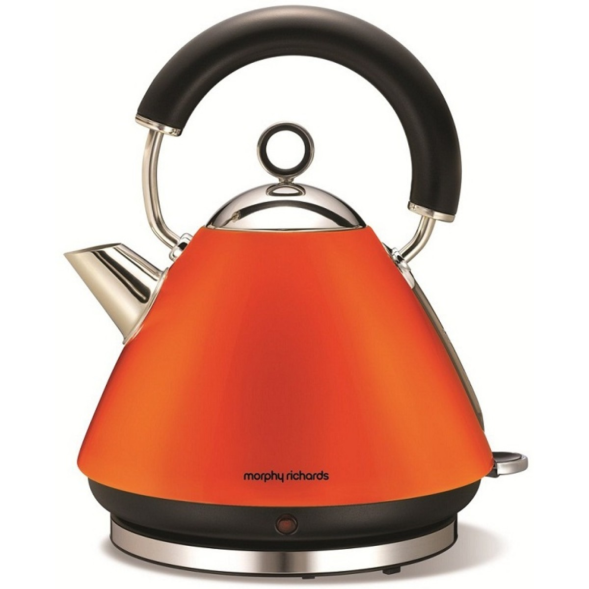 43828 morphy richards accents pyramid kettle orange. Black Bedroom Furniture Sets. Home Design Ideas