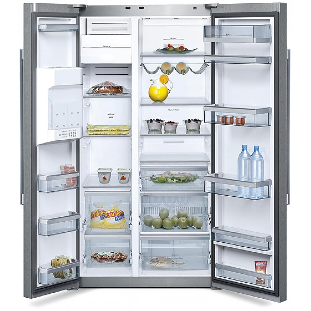 k5950n1 neff free standing side by side fridge freezer. Black Bedroom Furniture Sets. Home Design Ideas